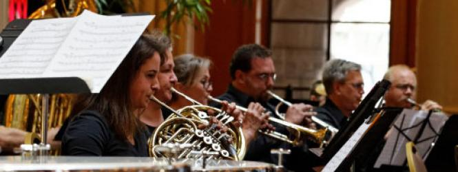 community band performing