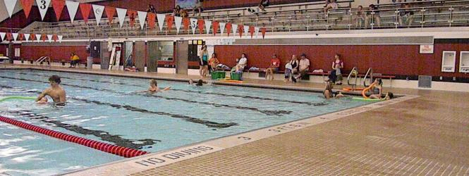 Community pool centennial schools for Rogers high school swimming pool