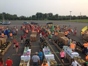 packing backpacks with school suppllies