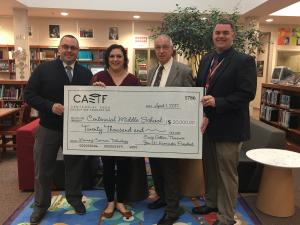 caef presenting check to administration
