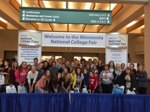 high school students at the national college fair in Minneapolis