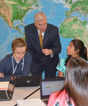 Congressman Emmer Visits with Students
