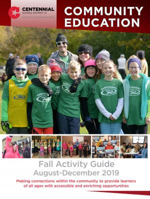 children standing together on the cover of the community education offerings