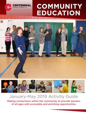The cover of the winter activity guide--taken at an adult learner dance class.