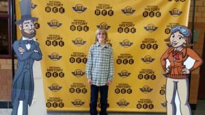 Theo Carlson, grade 7, heads to the National History Bee in Atlanta.