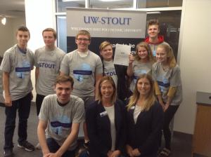 CHS seniors with UW Stout admissions counselors