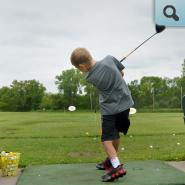 Student participating in Youth Golf Camp