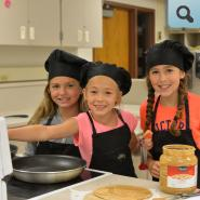Students participating in Junior Chef class