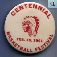 Basketball Festival Pin, 1961
