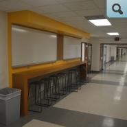 flexible learning space in the hallway