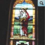 St. Genevieve of Paris stained glass window