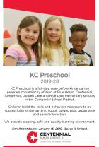 Cover Page of Preschool Brochure